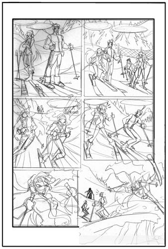 Набросок для комикса Винкс