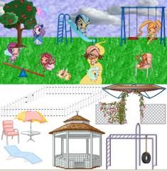 Игра Винкс Пикси на детской площадке