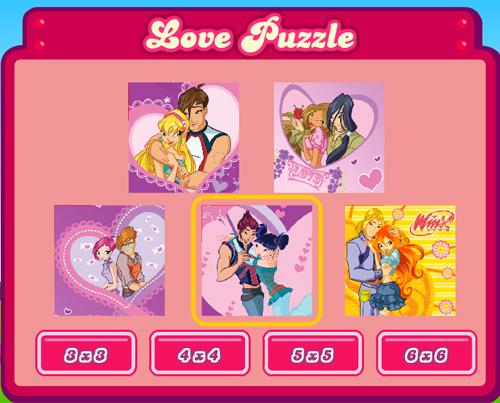 Игра Винкс - пазл-слайдер про любовь