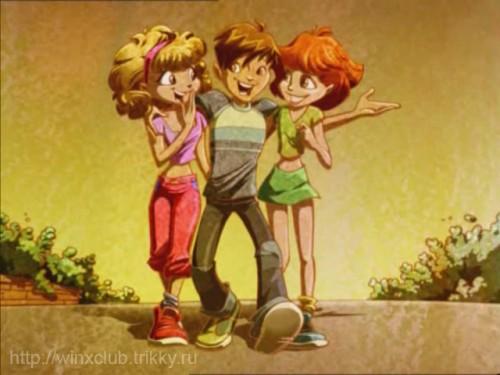 Брендон в детстве с девочками