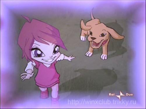 Маленькая Рокси и щенок Арту
