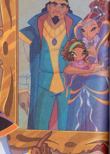 Лейла и ее родители, портрет