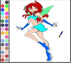 Игра для девочек раскраска с Блум