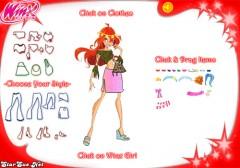 Игра для девочек с Винкс - одеваем Блум