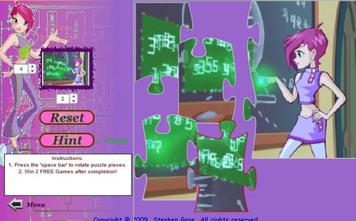Винкс-игра: Несколько пазлов, для которых очищать Текна