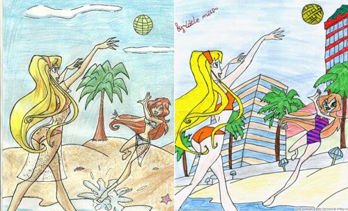 Два одинаковых рисунка