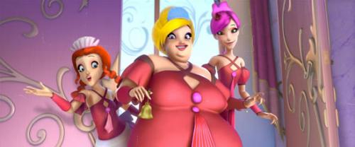 Три дамы в красном