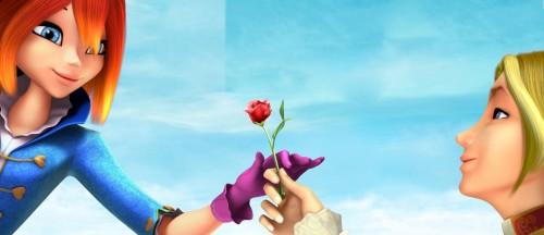 Блум и Скай с розой