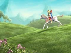 Блум и Скай на лошади