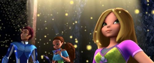 Кадр из фильма Волшебное приключение - Ривен, Лейла и Флора