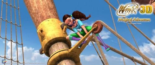 Кадр из фильма Винкс волшебное приключение - Лейла на корабле