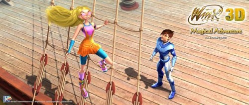 Кадр из фильма Винкс волшебное приключение - Стелла на корабле