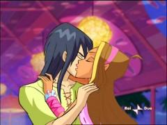 Флора и Гелия - скромный поцелуй в щеку
