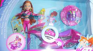 Кукла Блум с мотоциклом