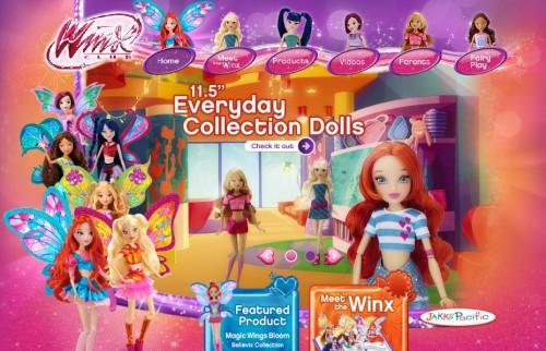Сайт с куклами Винкс