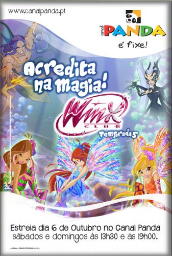 Плакат с Винкс и Айси, 5 сезон