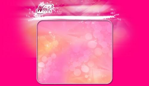 Розовая рамочка Винкс