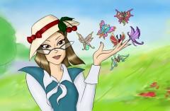 Гризельда с бабочками