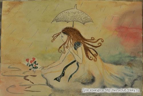 Осенний дождь и фея растений