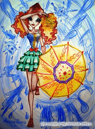 *Пробудившийся дождь* + *Осенняя Лейла с кленовыми листьями *