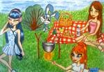 пикник на озере