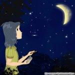 Гелия сочиняет стихи при луне