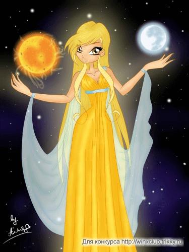 La fata della luna, sole e stelle...