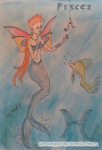 Тресса на крючке (Рыбы - зодиак)