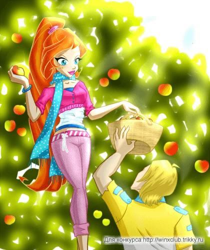 И кто в таком наряде яблоки собирает