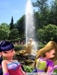 """Муза, Флора, Текна и Блум в Петергофе возле фонтана """"Самсон"""". (автор: Лилия)"""