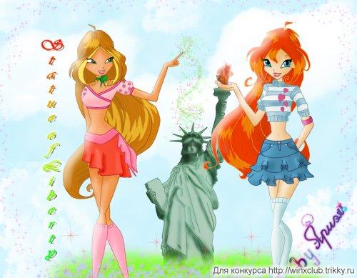 Флора, Блум и статуя свободы