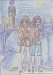 Флора и Текна в Лондоне(вид на Темзу и Биг Бен) (автор: Lamina)