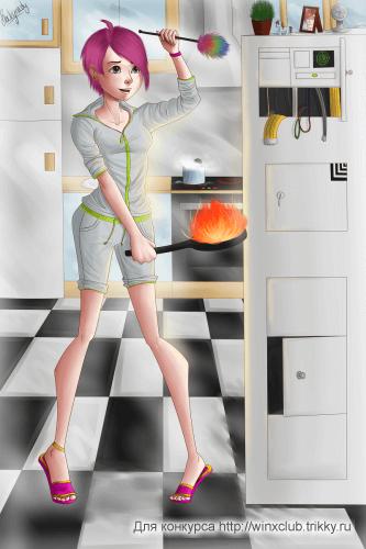 Суровая домохозяйка :D