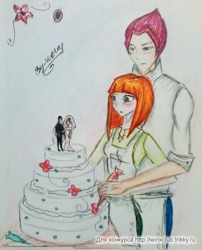 Свадебный тортик :з