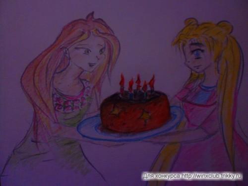 Флора, Усаги и тортик!
