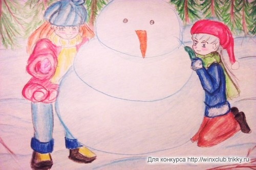 Блум, Айси и снеговик!