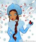 Снегурочка и снегирь (автор: Лилия)