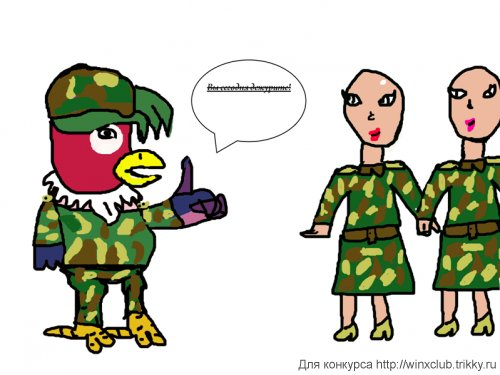 Плохо что в армии подстригают перед службой...(у попугая кеши)
