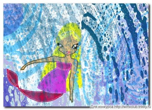 Стелла под водопадом