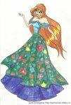 Блум и цветочная поляна на платье) (автор: ДеВаЧкА~Эндж~ПаЗиТиФфФ)
