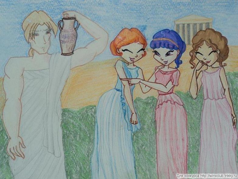 мифы о богах рисунки
