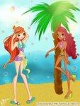 Блум, Лейла, пальма и пляж х)