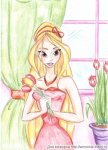 Стелла с тюльпанами