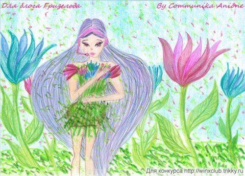 Муза на цветочной поляне. Платье - Букет.