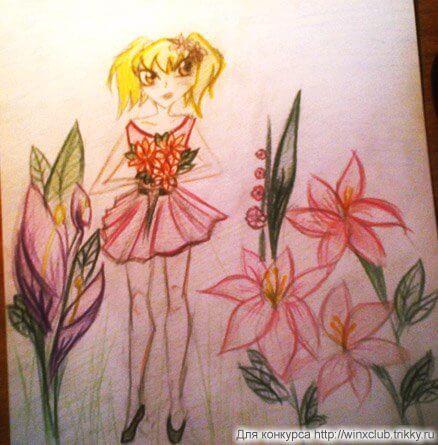 Стелла с цветами
